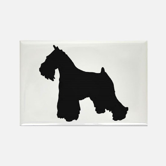 schnauzer black 2 Magnets
