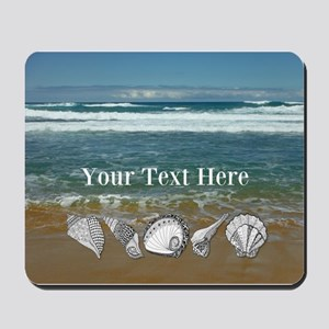 Customized Original Seashell Beach Art Mousepad
