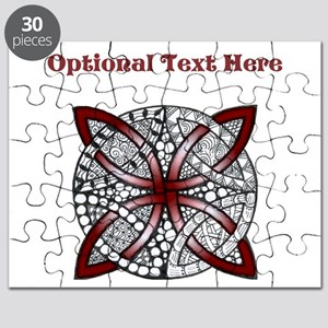 Personalizable Maroon Red Decorative Celtic Knot P