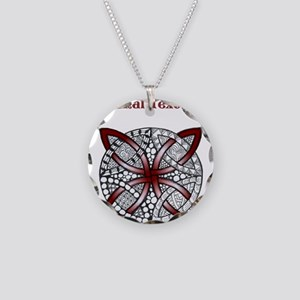 Personalizable Maroon Red Decorative Celtic Knot N