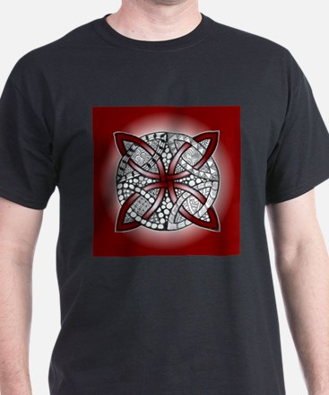 Red Celtic Knot Doodle T-Shirt