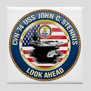CVN-74 USS John C. Stennis Tile Coaster
