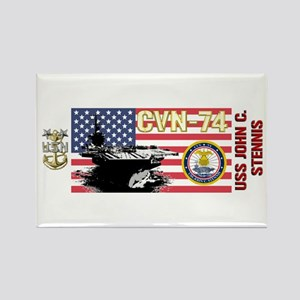CVN-74 USS John C. Stennis Rectangle Magnet