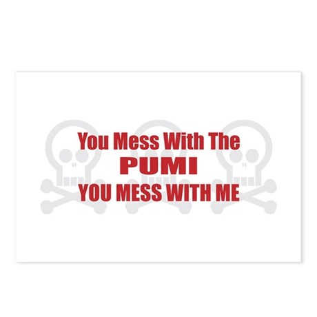 Mess With Pumi Postcards (Package of 8)