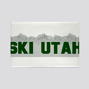 Ski Utah Rectangle Magnet