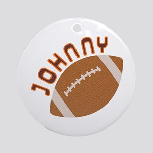 Johnny Football Ornament (Round)