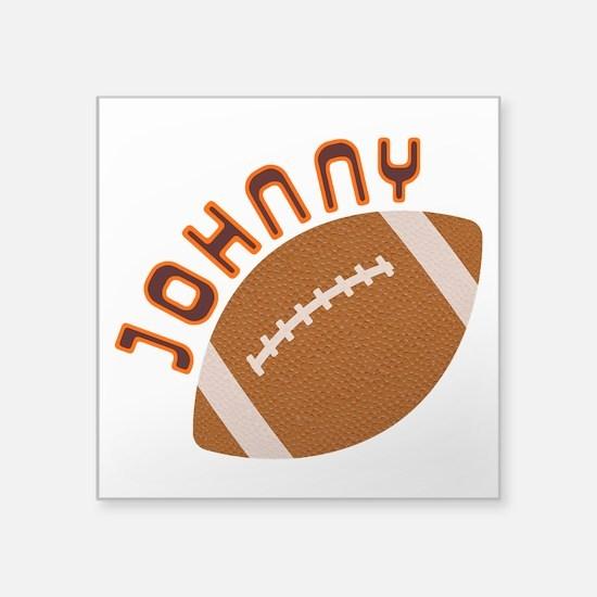 "Johnny Football Square Sticker 3"" x 3"""