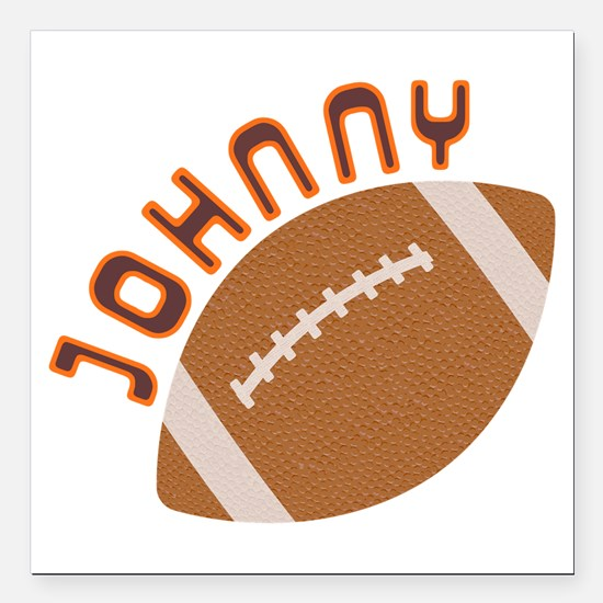 "Johnny Football Square Car Magnet 3"" x 3"""
