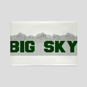 Big Sky Rectangle Magnet