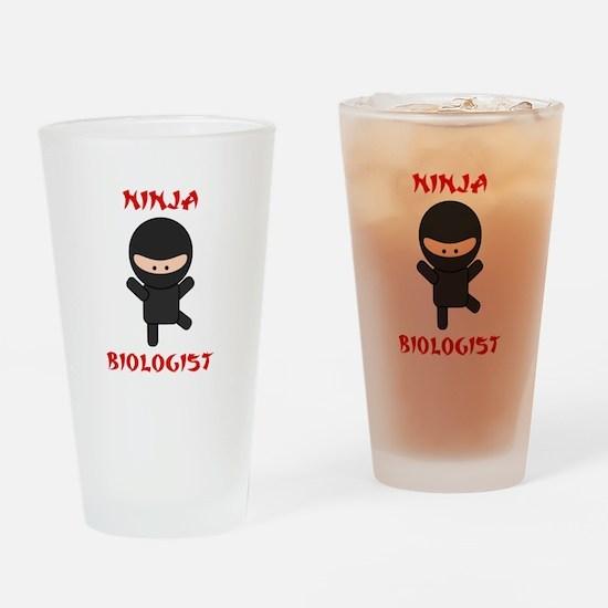 Ninja Biologist Drinking Glass