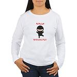Ninja Biologist Women's Long Sleeve T-Shirt