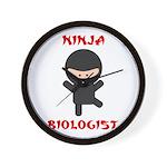 Ninja Biologist Wall Clock