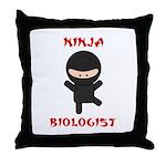 Ninja Biologist Throw Pillow