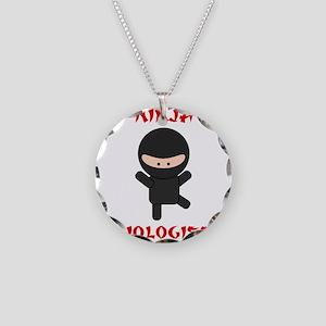 Ninja Biologist Necklace Circle Charm