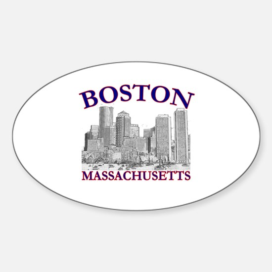 Boston, Massachusetts Oval Decal