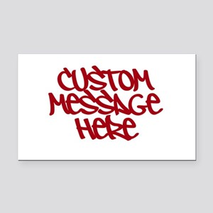 Custom Message Design Rectangle Car Magnet