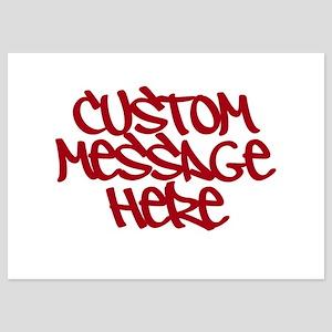 Custom Message Design Invitations