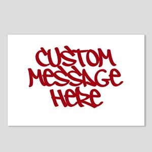 Custom Message Design Postcards (Package of 8)
