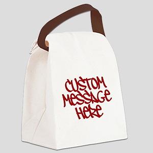 Custom Message Design Canvas Lunch Bag
