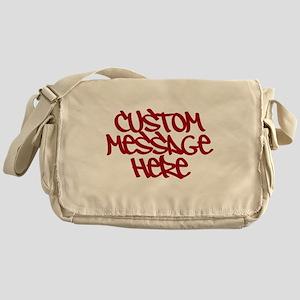 Custom Message Design Messenger Bag