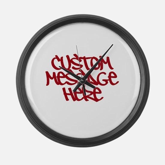 Custom Message Design Large Wall Clock