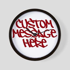Custom Message Design Wall Clock