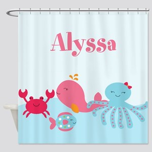 Under the Sea Personalized Shower Curtain