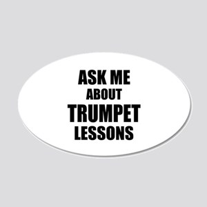 Ask me about Trumpet lessons Wall Decal