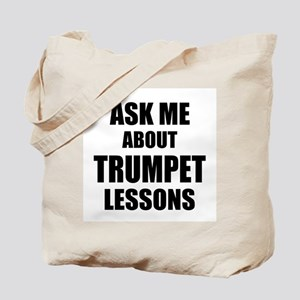 Ask me about Trumpet lessons Tote Bag