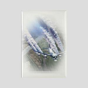 Chemtrail Jet Rectangle Magnet