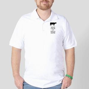 Keep Calm and Hug a Heifer Golf Shirt
