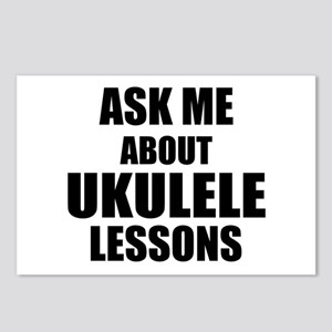 Ask me about Ukulele lessons Postcards (Package of