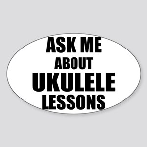 Ask me about Ukulele lessons Sticker