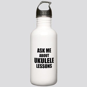 Ask me about Ukulele lessons Water Bottle