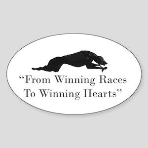 Winning Hearts Sticker (Oval)