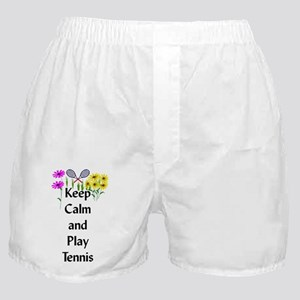 Keep Calm and Play Tennis Boxer Shorts