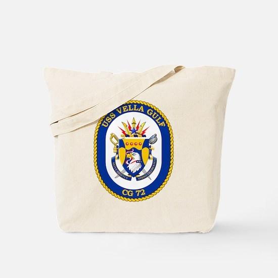 Uss Vella Gulf Cg-72 Tote Bag