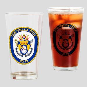 USS Vella Gulf CG-72 Drinking Glass