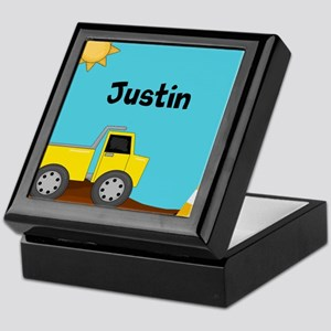 Construction Truck Personalized Keepsake Box