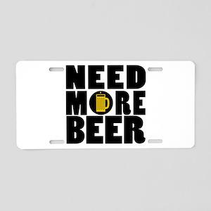 beer5 Aluminum License Plate