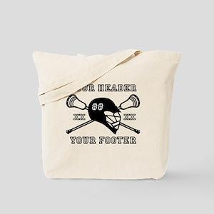 Lacrosse Team Black Alpha Tote Bag