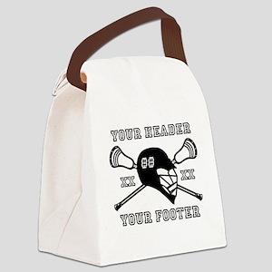 Lacrosse Team Black Alpha Canvas Lunch Bag