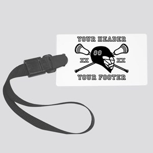 Lacrosse Team Black Alpha Luggage Tag