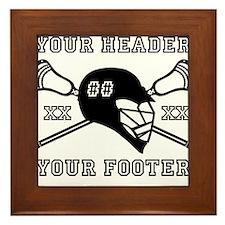 Lacrosse Team Black Alpha Framed Tile