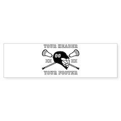 Lacrosse Team Black Alpha Bumper Bumper Sticker