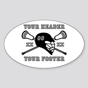 Lacrosse Team Black Alpha Sticker