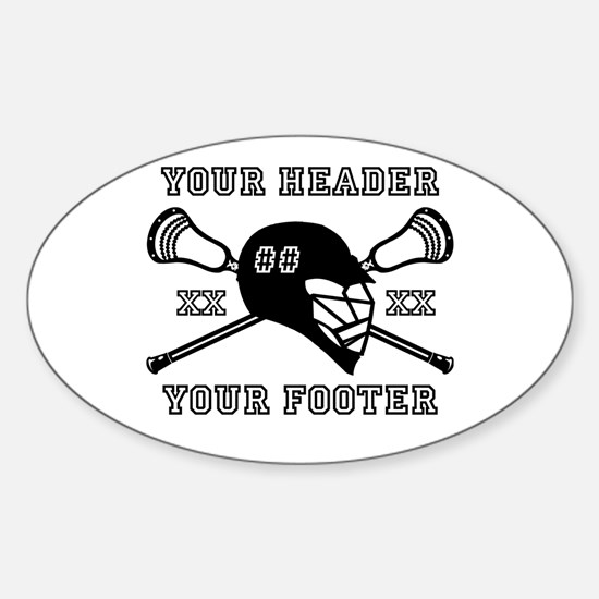 Lacrosse Team Black Alpha Decal