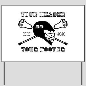 Lacrosse Team Black Alpha Yard Sign