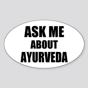 Ask me about Ayurveda Sticker