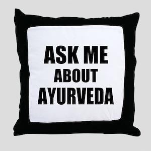 Ask me about Ayurveda Throw Pillow